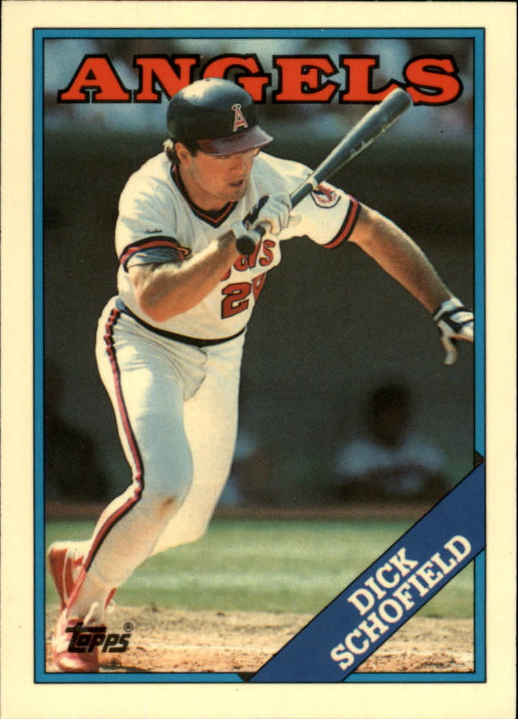 1988 Topps Tiffany #43 Dick Schofield