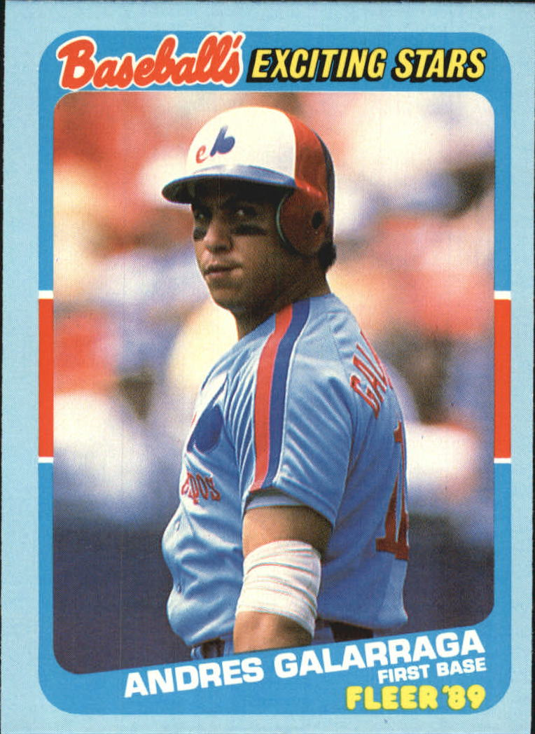 1989 Fleer Exciting Stars #13 Andres Galarraga