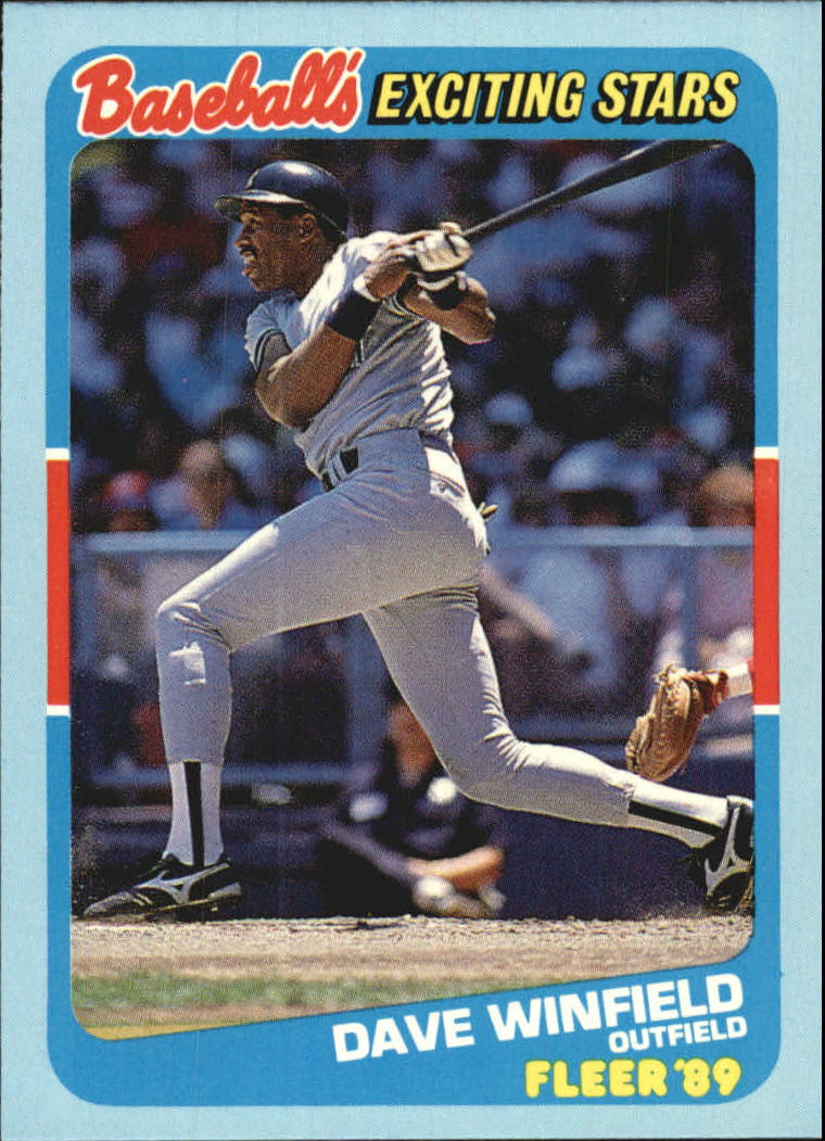 1989 Fleer Exciting Stars #43 Dave Winfield