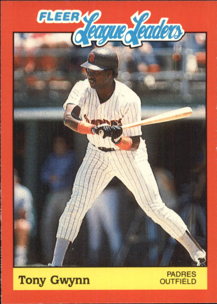 1989 Fleer League Leaders #19 Tony Gwynn