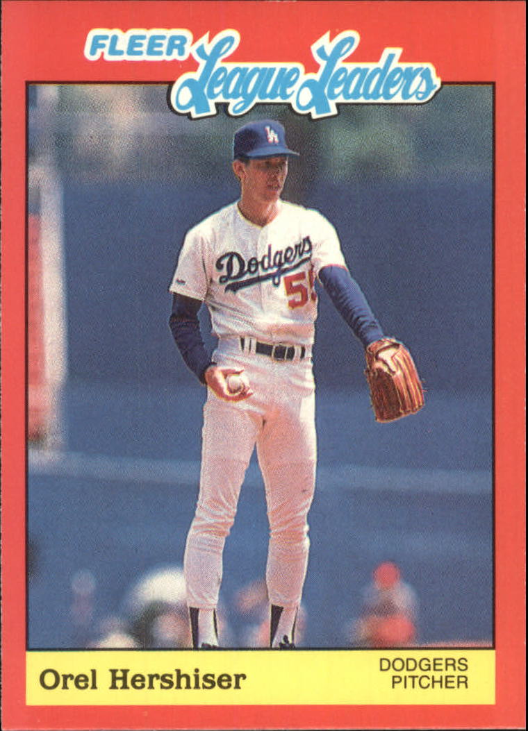 1989 Fleer League Leaders #20 Orel Hershiser