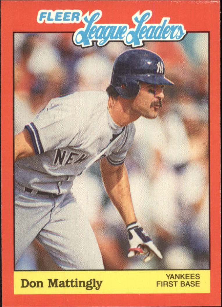 1989 Fleer League Leaders #25 Don Mattingly