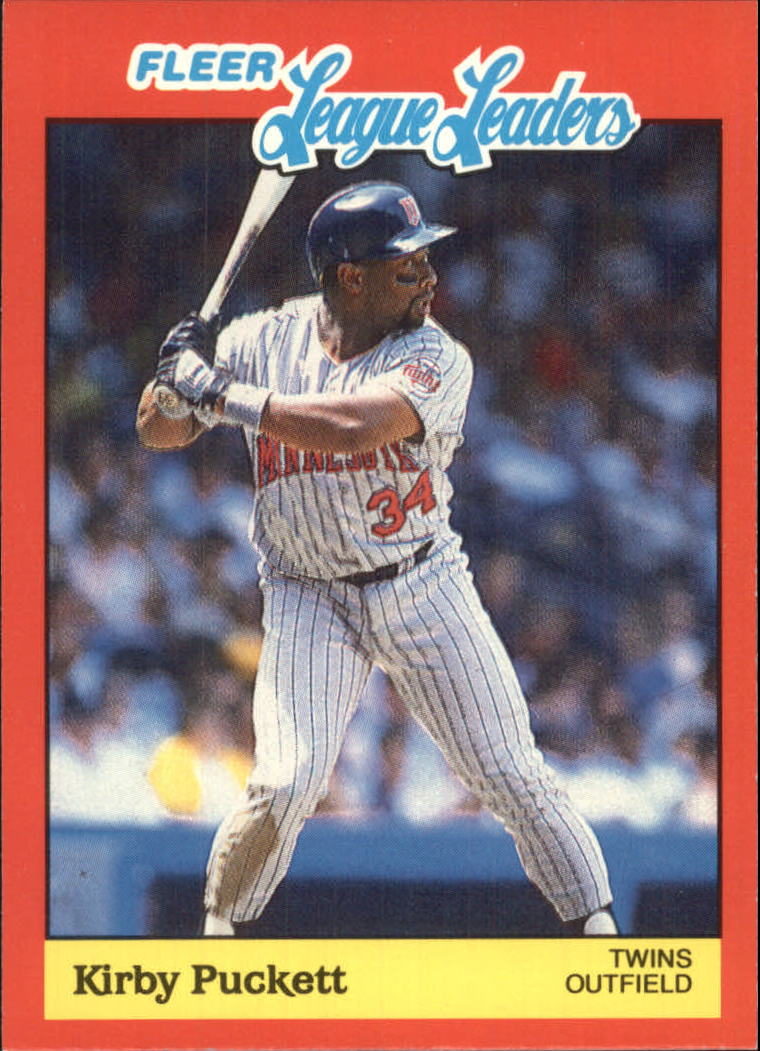 1989 Fleer League Leaders #30 Kirby Puckett