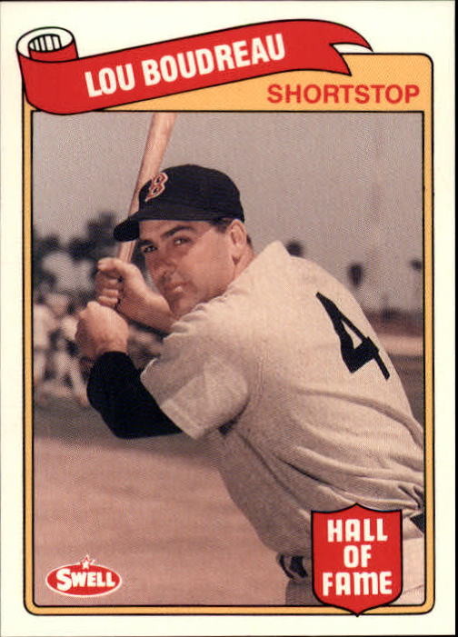 1989 Swell Baseball Greats #80 Lou Boudreau