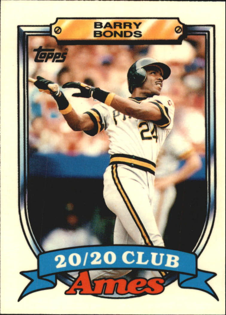 1989 Topps Ames 20/20 Club #5 Barry Bonds