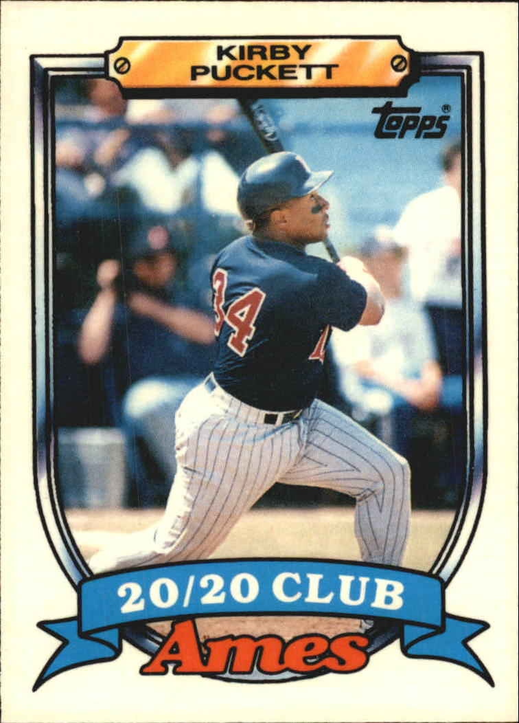1989 Topps Ames 20/20 Club #24 Kirby Puckett