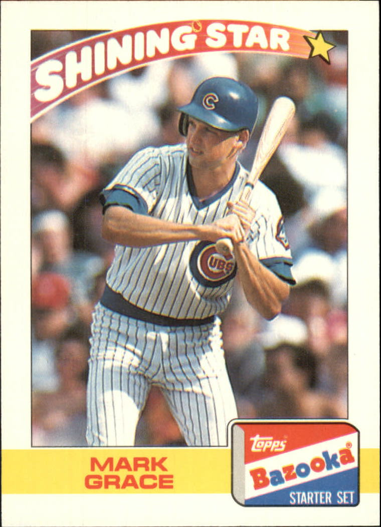 1989 Bazooka #12 Mark Grace