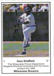 1989 Brewers Police #1 Gary Sheffield