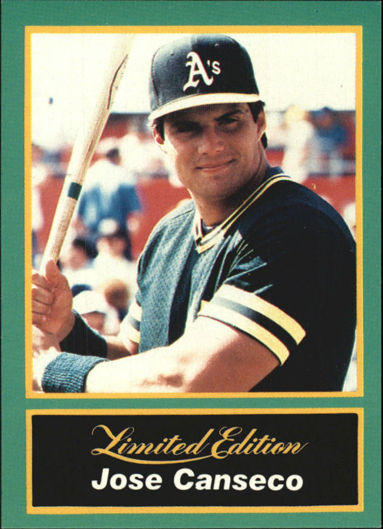 1989 CMC Canseco #2 Jose Canseco/Posing with bat from/the waist up