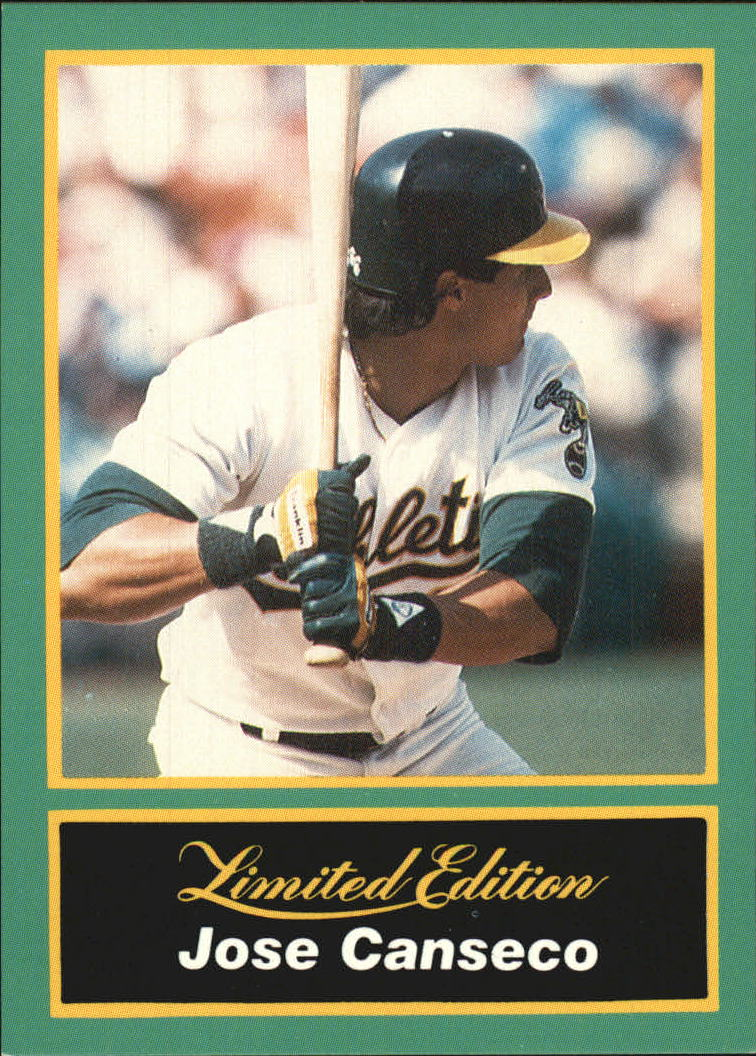 1989 CMC Canseco #9 Jose Canseco/Batting stance ready/for pitch