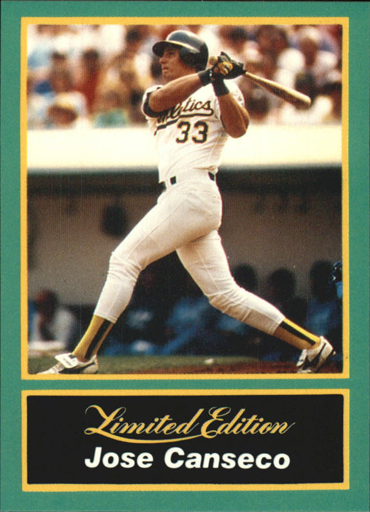 1989 CMC Canseco #15 Jose Canseco/Follow through on swing/no catcher
