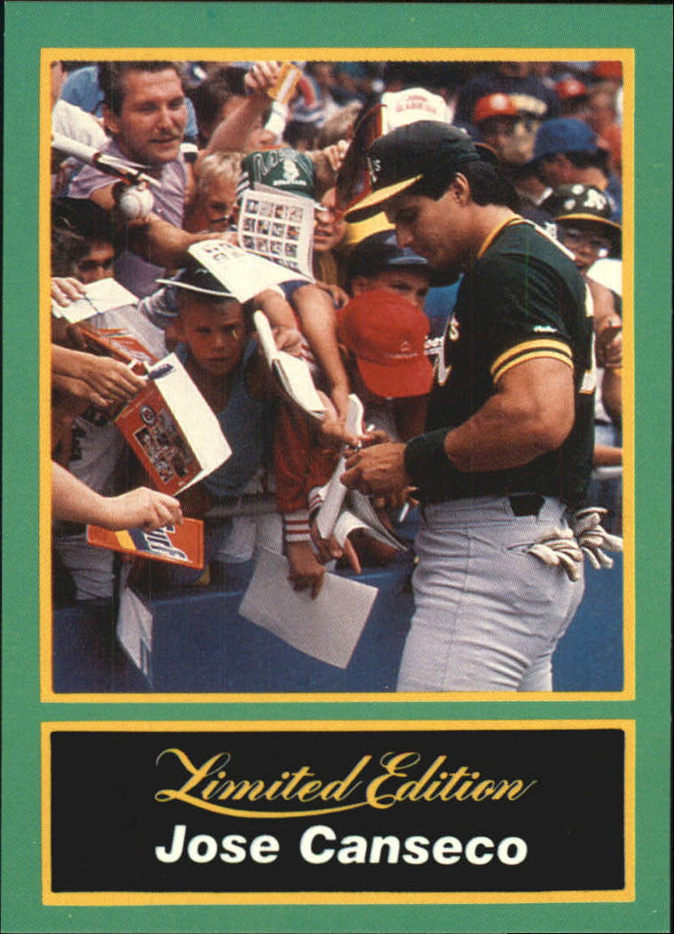 1989 CMC Canseco #18 Jose Canseco/Signing autographs/at the ballpark