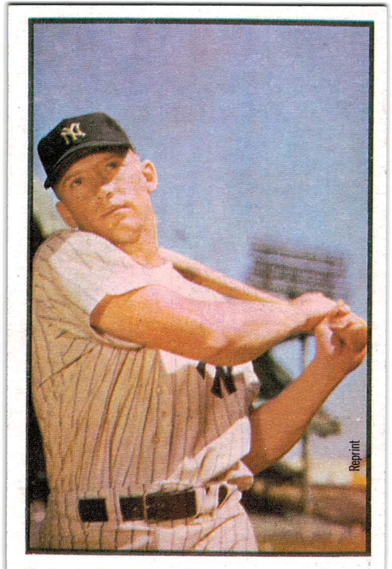 1989 Bowman Reprint Inserts #6 Mickey Mantle 53