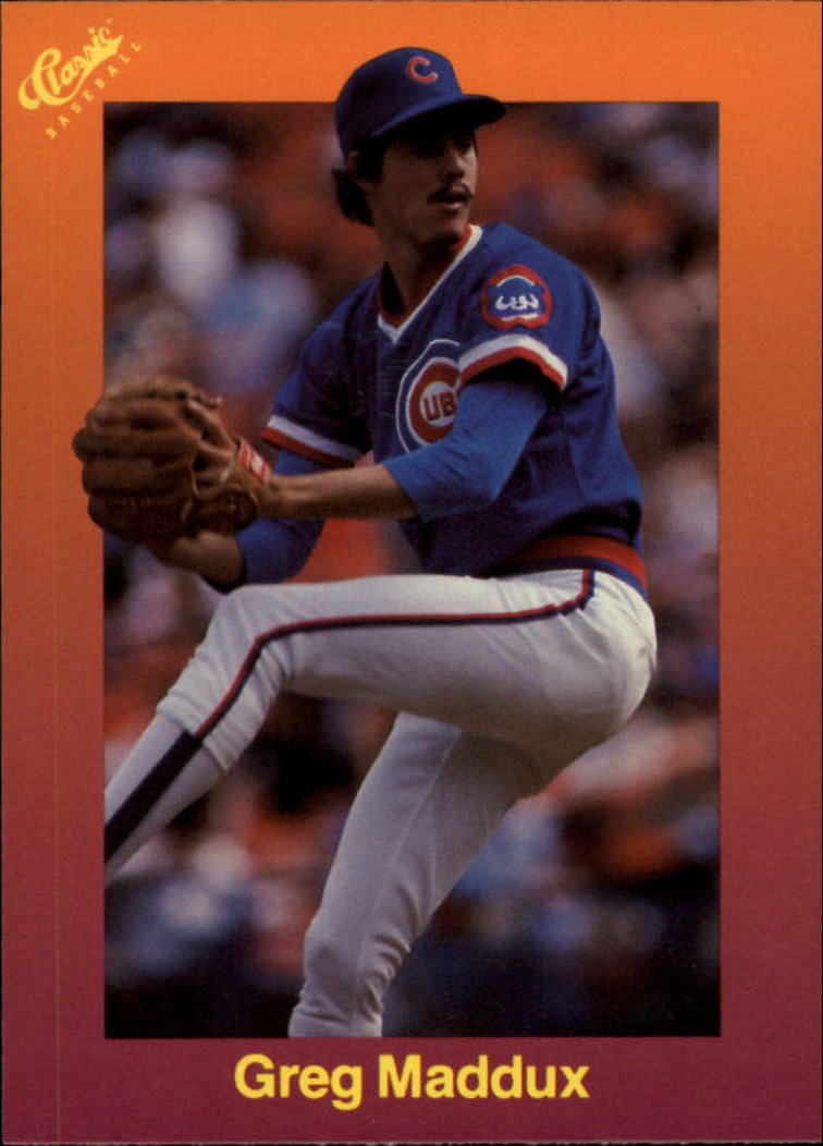 1989 Classic Travel Orange #121 Greg Maddux