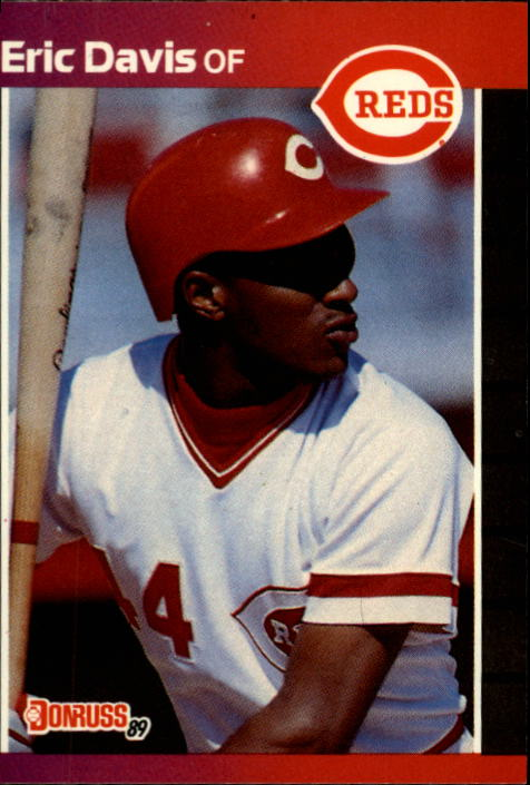 1989 Donruss #80 Eric Davis UER/(165 games in 1988,/should be 135