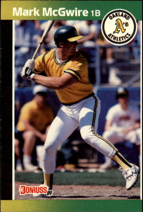 1989 Donruss #95 Mark McGwire