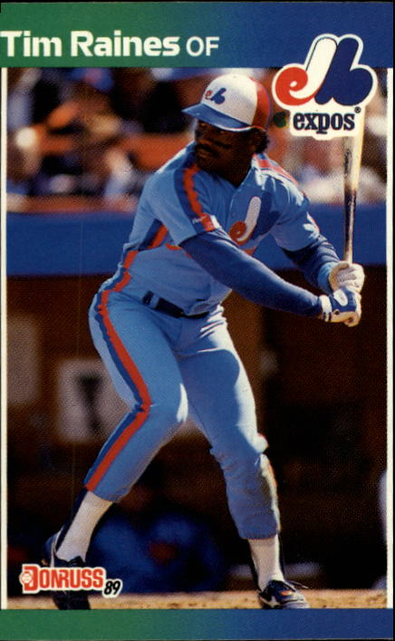 1989 Donruss #97 Tim Raines