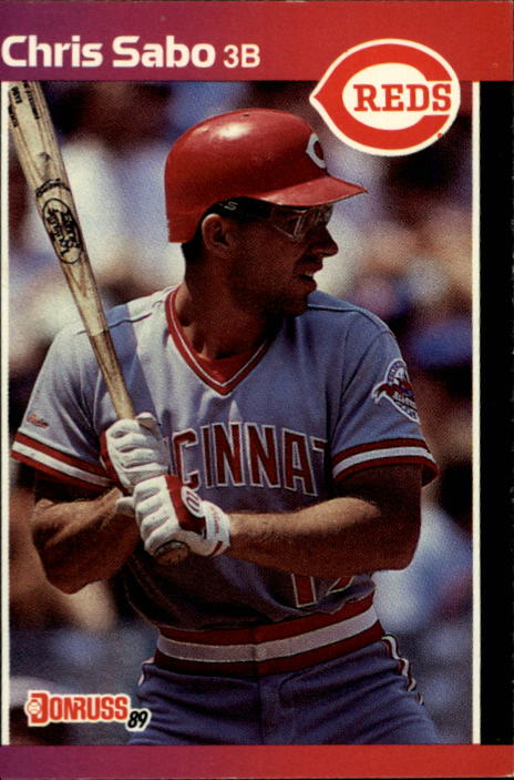 1989 Donruss #317 Chris Sabo RC *