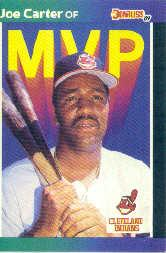 1989 Donruss Bonus MVP's #BC3 Joe Carter