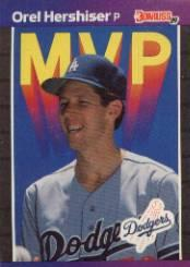 1989 Donruss Bonus MVP's #BC4 Orel Hershiser