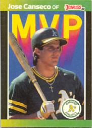 1989 Donruss Bonus MVP's #BC5 Jose Canseco