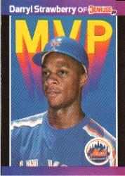1989 Donruss Bonus MVP's #BC6 Darryl Strawberry