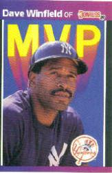 1989 Donruss Bonus MVP's #BC11 Dave Winfield