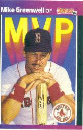 1989 Donruss Bonus MVP's #BC13 Mike Greenwell