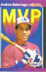 1989 Donruss Bonus MVP's #BC16 Andres Galarraga
