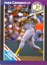 1989 Donruss Grand Slammers #1 Jose Canseco