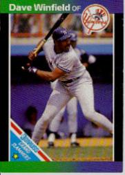 1989 Donruss Grand Slammers #6 Dave Winfield