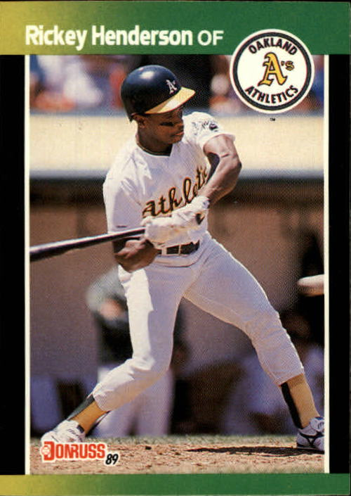 1989 Donruss Baseball's Best #78 Rickey Henderson