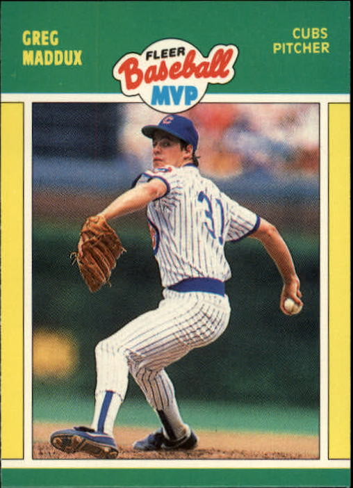 1989 Fleer Baseball MVP's #24 Greg Maddux