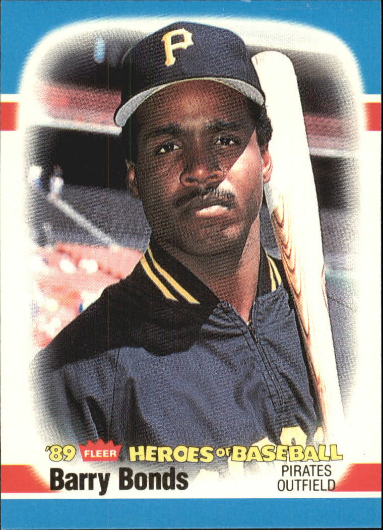 1989 Fleer Heroes of Baseball #3 Barry Bonds
