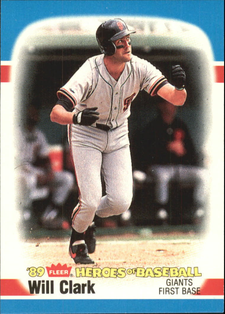 1989 Fleer Heroes of Baseball #7 Will Clark