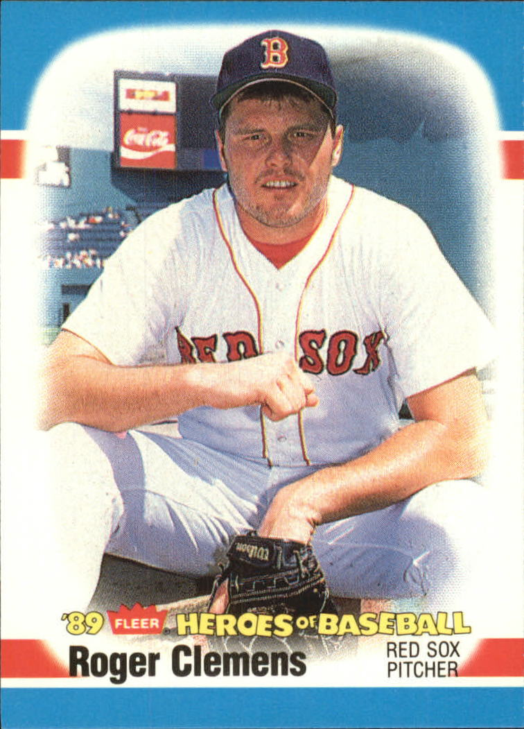 1989 Fleer Heroes of Baseball #8 Roger Clemens