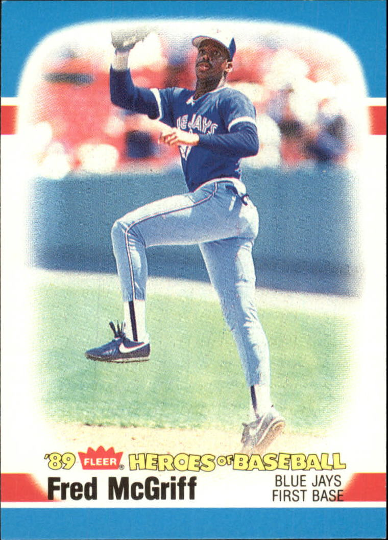 1989 Fleer Heroes of Baseball #27 Fred McGriff