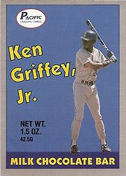 1989 Pacific Griffey Candy Bar #1A Ken Griffey Jr./(Blue background)