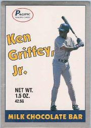 1989 Pacific Griffey Candy Bar #1B Ken Griffey Jr./(White background)