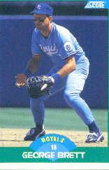 1989 Score #75A George Brett 33 ERR