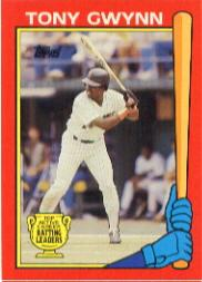 1989 Topps Batting Leaders #2 Tony Gwynn