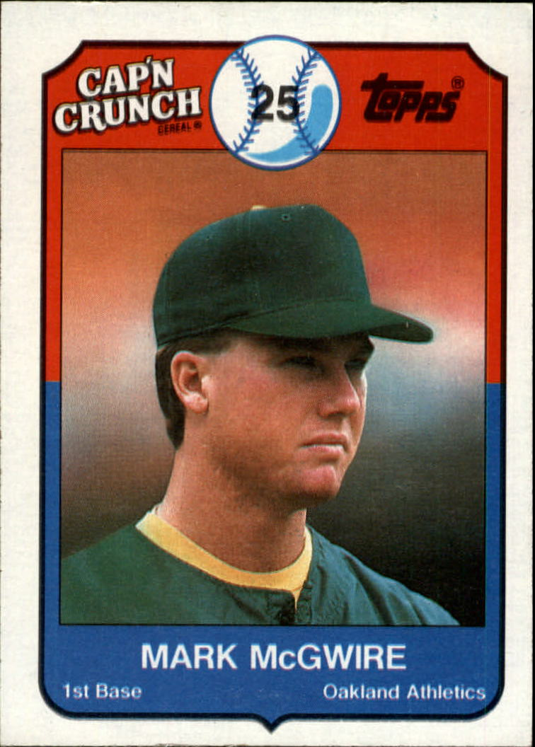 1989 Topps Cap'n Crunch #22 Mark McGwire