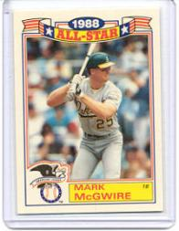 1989 Topps Glossy All-Stars #2 Mark McGwire