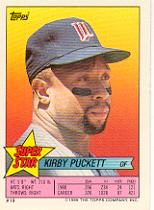 1989 Topps/O-Pee-Chee Sticker Backs #19 Kirby Puckett