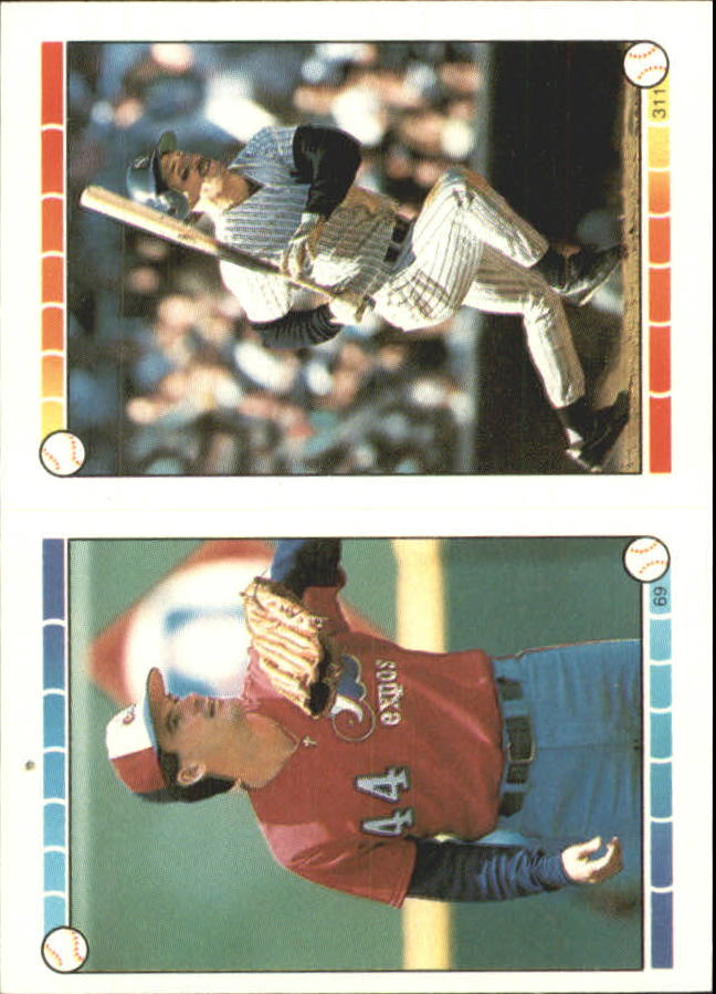 1989 Topps/O-Pee-Chee Sticker Backs #25 Roger Clemens