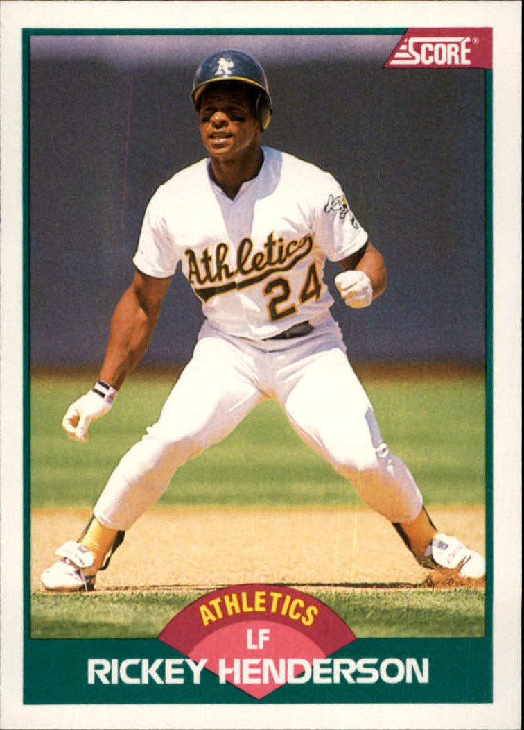 1989 Score Rookie/Traded #50T Rickey Henderson