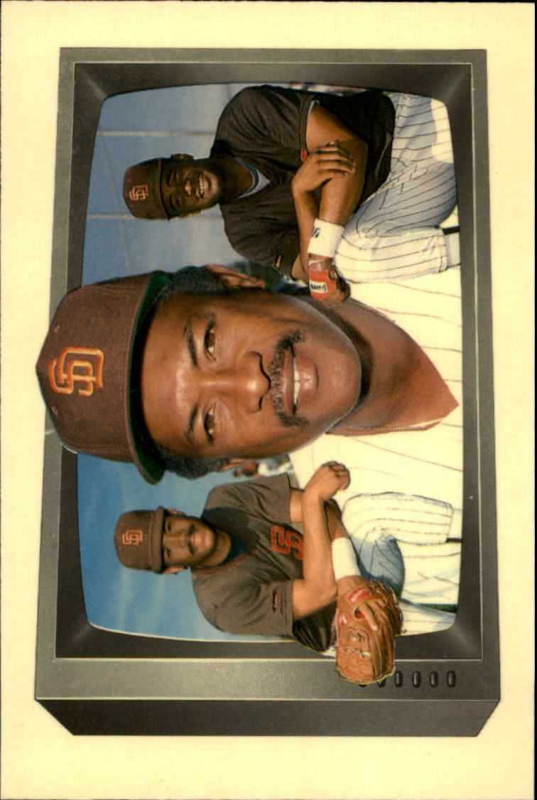 1989 Bowman Tiffany #258 Roberto Alomar w/Dad