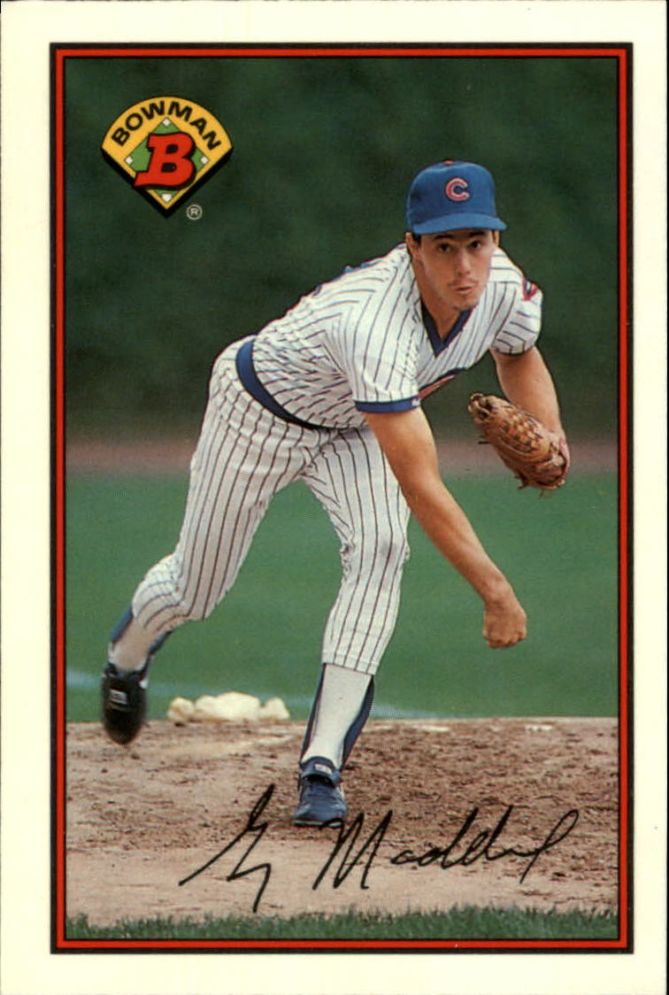 1989 Bowman Tiffany #284 Greg Maddux