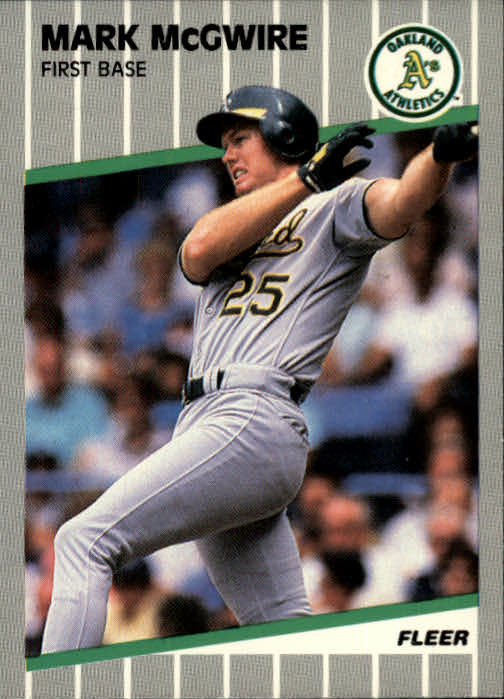1989 Fleer #17 Mark McGwire