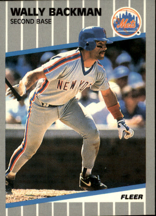 1989 Fleer #28 Wally Backman
